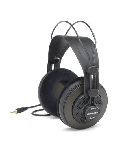Samson Technologies SR850 Semi Open-Back Studio Reference Headphones, Black
