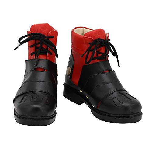 My Hero Academia Midoriya Izuku Shoes Deku Black-red Fighting Boots Halloween Cosplay Shoes