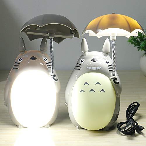 RTTXQ Kawaii Cartoon Mein Nachbar Totoro Lampe Led-Nachtlicht USB-Lesetisch Schreibtischlampen für Kinder Geschenk-Hauptdekor-Neuheit-Beleuchtung,Gelb