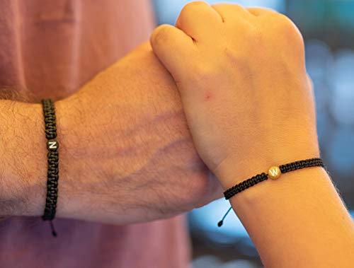 Personalisiertes Partnerarmband (2 Armbänder als Set), Partner Armband mit Buchstaben, Namen, Initialien