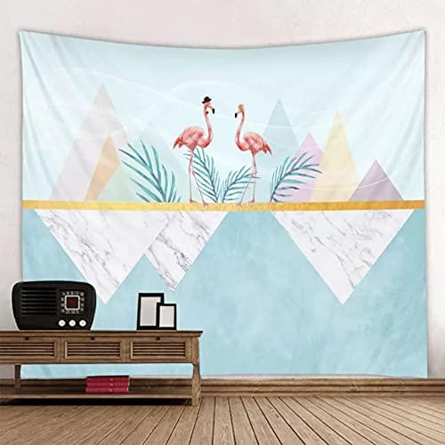 DQLREW Tapiz decoración Pared Arte tapices Tapiz de Paisaje de Flamenco Simple Boho Mandala Colgante de Pared Azul Real 3D Hippie Tapiz de Pared decoración del hogar Estera de Yoga