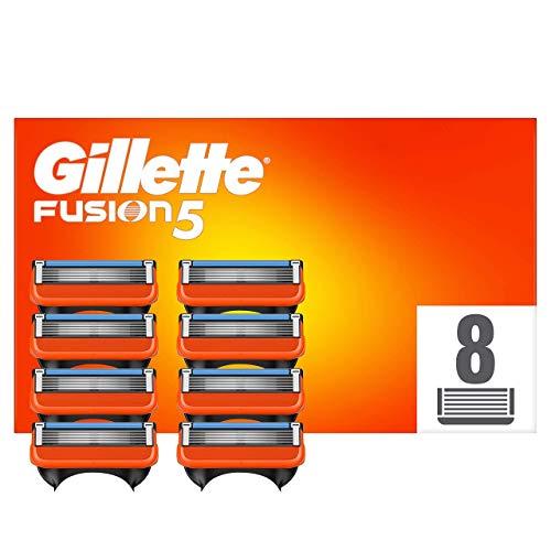 Gillette Fusion 5 Lames de Rasoir Homme, Pack de 8 Lames de Recharges [OFFICIEL]