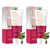 Heat Sweat Enhancer Curvy Cream, Crema Caliente Con CafeíNa para El Tratamiento de La Celulitis, Crema Quemadora de CafeíNa para Mujeres Y Hombres, Crema Quemagrasas para El Sudor (2 piezas)