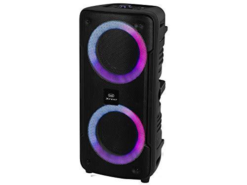 Trevi XFEST XF 440 KB - Altavoz Amplificado portátil para Moving Discolight, MP3, USB, SD, Bluetooth, función TWS, batería integrada, Karaoke Party Speaker con micrófono dinámico con Cable Incluido