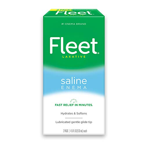 Fleet Laxative Saline Enema for Adult Constipation, 2 Bottles, 4.5 Fl Oz (Pack of 2), 9 Fl Oz