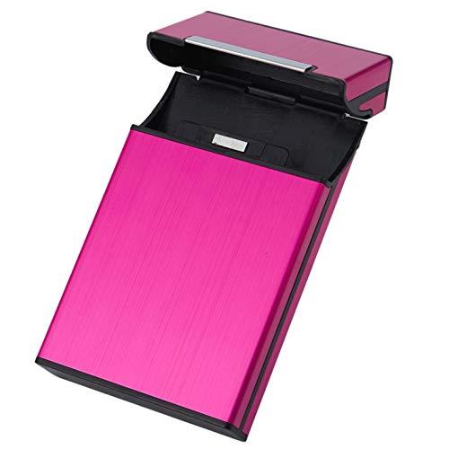 AYUN 1 Stück Frauen Zigarettenhalter Geschenk-Box Kreative Persönlichkeit Zigarette Box Slim Metall Fashion Zigarettenbox Rose