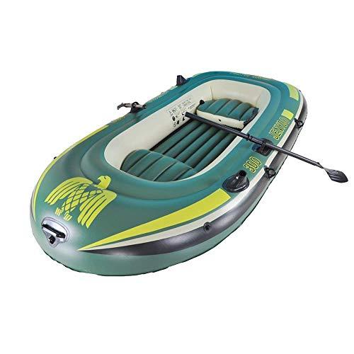 GUOE-YKGM Kayak Schlauchboot Faltkajak Outdoor Beiboot Komfortable Kajakfahren Freizeit Faltboot 1-3 Personen Schlauchboot Marine Sport Angeln Abenteuer Dicke PVC Kunststoff 234 * 135 cm Grün