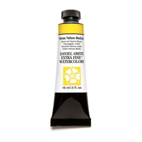 DANIEL SMITH Extra Fine Watercolor 15ml Paint Tube, Hansa Yellow Medium