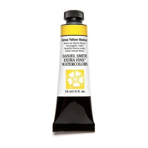 DANIEL SMITH Extra Fine Watercolor 15ml Paint Tube, Hansa Yellow Medium (284600039)