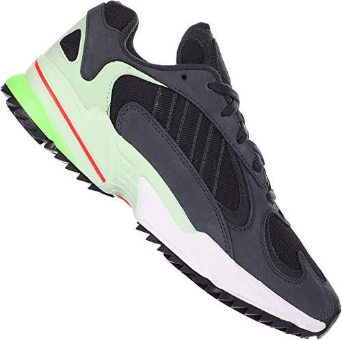adidas Yung-1 Trail Carbon/Core Black/Glow Green 10 D (M)
