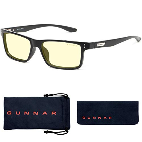Gaming Glasses | Blue Light Blocking Glasses | Vertex/Onyx by Gunnar | 65% Blue Light Protection, 100% UV Light, Anti-Reflective To Protect & Reduce Eye Strain & Dryness