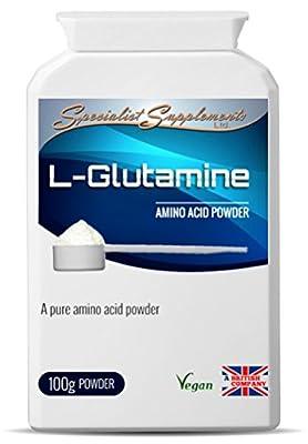 Specialist Supplements - L-Glutamine Powder (100 Grams Tub Powder) - Amino Acid Powder