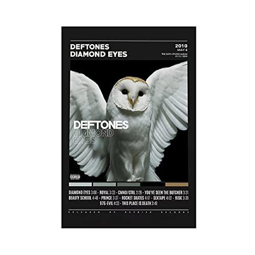 Affiche Deftones Diamond Eyes pour décoration de chambre à coucher, de sport, de paysage, de bureau, de chambre, sans cadre : 30 x 45 cm