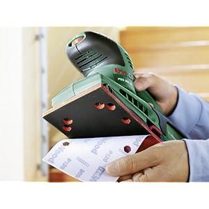 Bosch Schleifmaschine PSS 250 AE (250 Watt, Schwingkreis 2 mm, Schleiffläche 167 cm2, im Koffer)