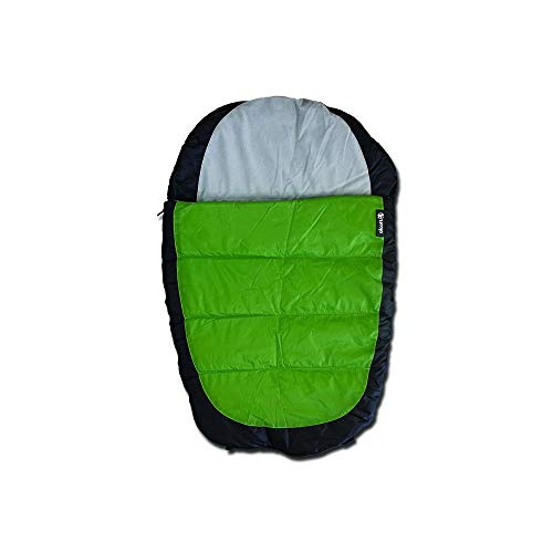 Alcott Adventure Sleeping Bag for Dogs, Medium, Green/Grey
