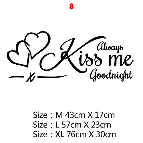 Makkalensau Design Quotes Wall Stickers For Bedroom Decals Room Sticker Hrase Mural Decoration SizeM 8