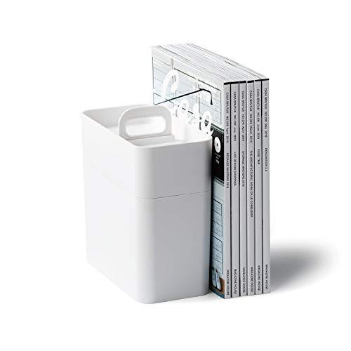 ライクイット(like-it)収納ケース持ち運びができるメイクボックス鏡付き幅21x奥11x高23cmホワイト日本製