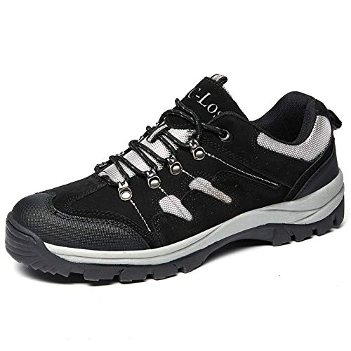 Men's Hiking Shoes Water Resistant Outdoor Breathable Non-Slip High-Traction Grip Lightweight Backpacking Climbing Trekking Trails Walking Shoe Vent Series Black