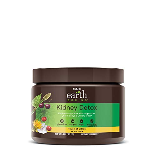 GNC Earth Genius Kidney Detox - Touch of Citrus, 14 Servings, Support for Kidneys and Urinary Tract