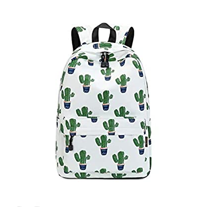 Joymoze Bonita Mochila Escolar Impermeable para Niños y Niñas - Cartera Ligera de Estampado Elegante Cactus