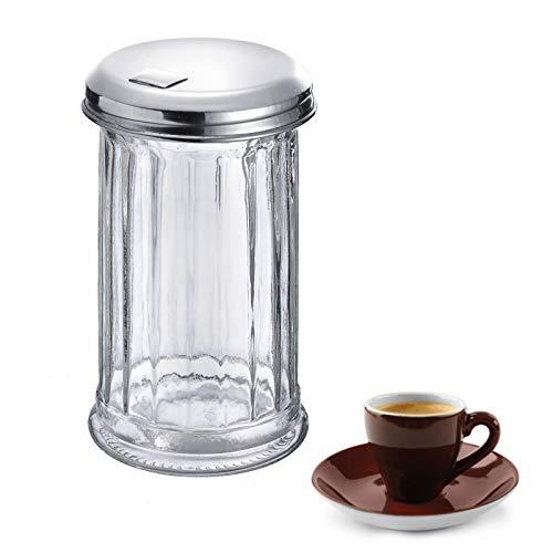 Westmark Zuckerstreuer, Fassungsvermögen: 300 ml, Glas/Rostfreier Edelstahl, New York, Silber/Transparent, 65202260