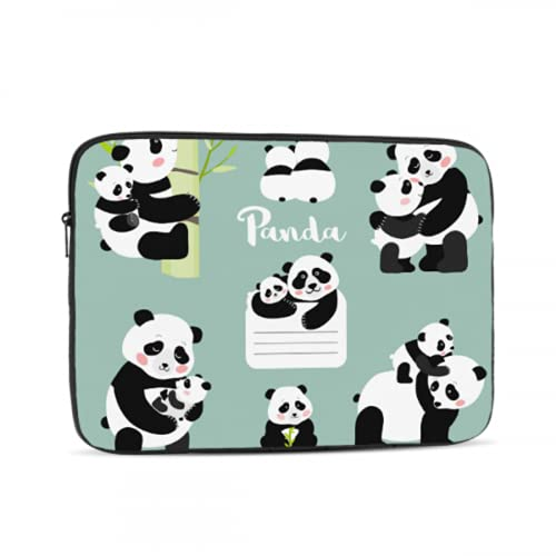 MacBook Air Hard Cover Cute Chinese Panda Souvenir Gift Mac Pro Case Multi-Color & Size Choices 10/12/13/15/17 Inch Computer Tablet Briefcase Carrying Bag