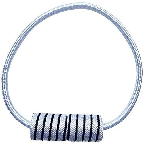 yueyue947 / Raya Cortina magnética Correa Gancho Hebilla Soporte Drape Tieback Cuerda Decoración para el hogar / 80cm / Blanco