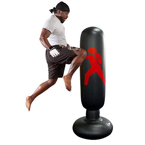 KKOODLL Aufblasbarer Boxsack Boxsack 160 cm stehender Tumbler Home Gym Fitness Training Tool Boxsack vertikal aufblasbarer Boxsack
