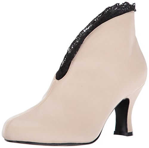 Pleaser Pink Label Damen Jenna-105 Stiefel, Cremefarbene Spitze aus Kunstleder, 39 EU