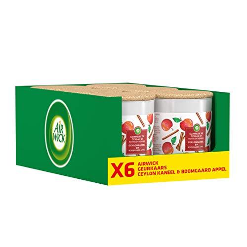 Air Wick Geurkaars - Ceylon Kaneel & Boomgaard Appel 6 Stuks