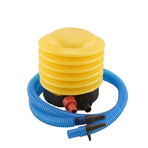 N/N Portable Bellows Foot Pump with Hose, Plastic Labor-Saving Air Inflatable Pump for Sports, Mattress, Inflatable Boat, Exercise Ball, Balloon, Swimming Ring, Pool Toys