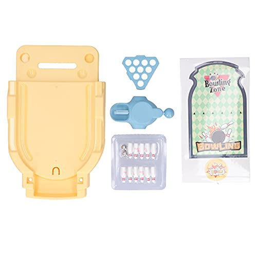 Drfeify Mini Sistema de Juego de Bolos, Juguete Interactivo de los niños del Juguete del Tablero de la Bola de Bolos de Escritorio plástico