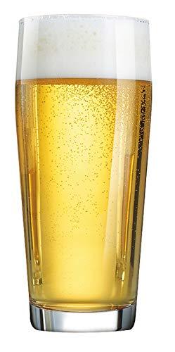 Arcoroc ARC 33049 Willi Willibecher, Bierglas, 630ml, mit Füllstrich bei 0.5l, Glas, transparent, 12 Stück