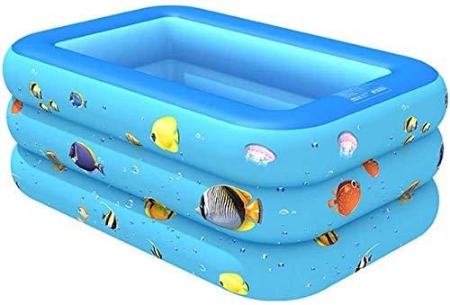 Aufblasbarer Pool Aufblasbarer Familienpool Aufblasbarer Pool Innen- und Außenpool Baby-Pool PVC Aufblasbarer Pool (130 * 90 * 50 cm 150 * 110 * 55 cm 182 * 140 * 60 cm 210 * 135 * 55 cm)-Blau_21
