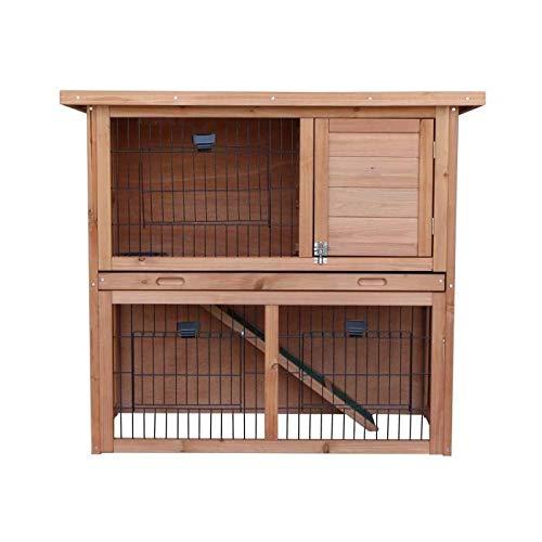 Clapier en bois Diego 92x45x81 cm - Pour lapin