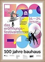 ポスター バウハウス 100 Jahre Bauhaus Festival 2019 white 額装品 ウッドベーシックフレーム(オフホワイト)