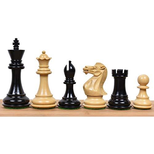 RoyalChessMall-3.9 'Juego de ajedrez Profesional Staunton - Ébano de Triple Peso