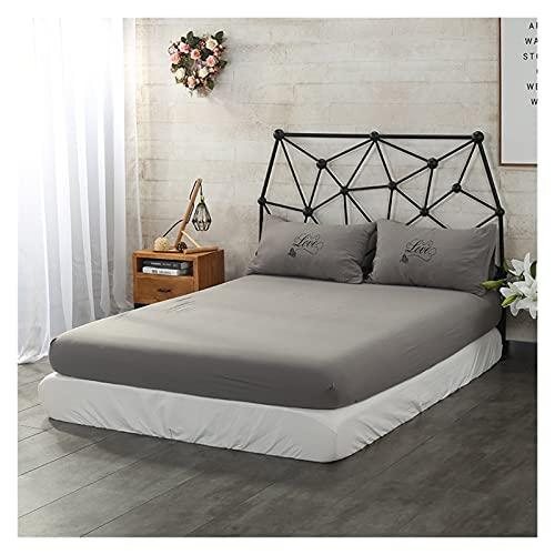 EFGUFHC Pastilla de colchón de colchón de colchón a Prueba de Agua sólido Liso for colchón for colchón for colchón for colchón de Cama Topper Transpirable (Color : CL011-18, Size : 120x200x30cm)