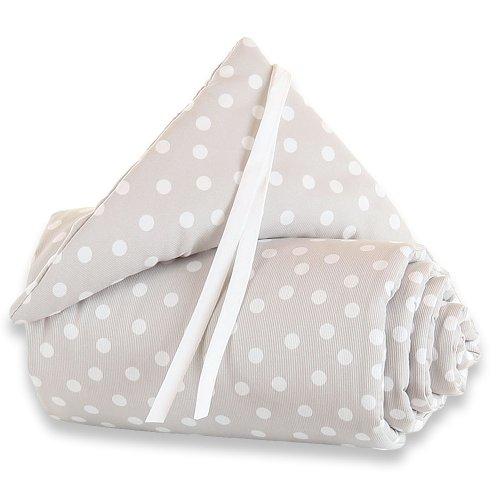 babybay Nestchen Piqué passend für Modell Maxi, Boxspring und Comfort, grauer tupfen