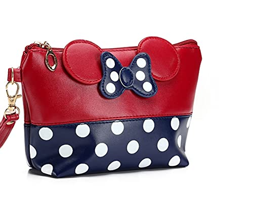 Bolsas de maquillaje Minnie bolsa de viaje bolsa cosmética del cómic cierre cremallera