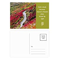 カラフルな林業科学は自然の風景 詩のポストカードセットサンクスカード郵送側20個