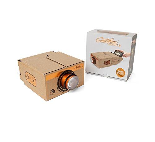 Smartphone-Projektor – tragbare Heimkino-Box – für iPhone/Android – kupferfarben – Nostalgie-Design