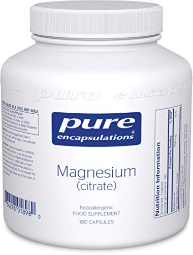 Pure Encapsulations - Magnesium (Citrate) 150mg - Highly Bioavailable Magnesium Chelate - 180 Capsules