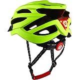 DesignSter Casco Bicicleta Unisex Adulto Unisexo Ajustable con Visera y Forro Desmontable Especializado para Ciclismo de Montaña Motocicleta, Amarillo