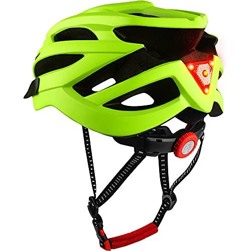 DesignSter Casco Bicicleta-Certificación CE y UKCA Unisex Adulto Unisexo Ajustable con Visera y Forro Desmontable Especializado para Ciclismo de Montaña Motocicleta(Amarillo)