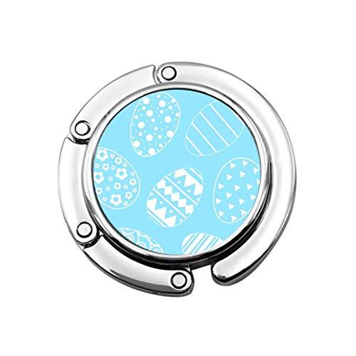 Huevos inusuales Modelo de Moda Colgador de Bolso de Mesa Gancho Colgador de Monedero portátil Diseños únicos Sección Plegable Almacenamiento Monedero Colgador de Escritorio