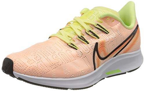 Nike Women's Air Zoom Pegasus 36 Premium Rise Running Shoes (9, Orange/Green/Black)