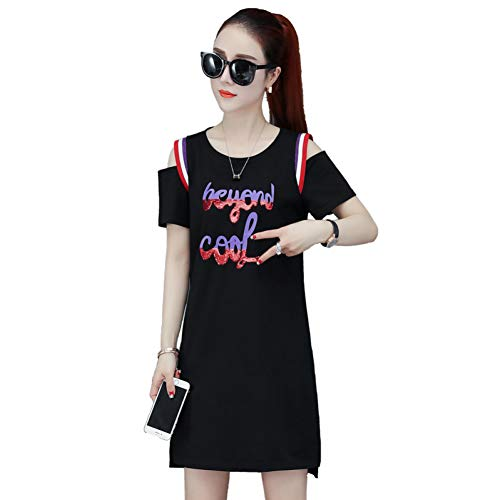 BINGQZ Cocktail Jurken Lente en zomer jurk vrouwelijke temperament slanke losse lange strapless T-shirt rok
