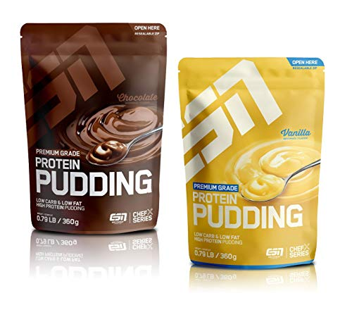 ESN Protein Pudding - Premium Grande (Vanilla & Chocolate (2er Pack))