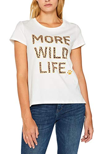edc by Esprit 089cc1k023 T-Shirt, Bianco (off White 110), Medium Donna